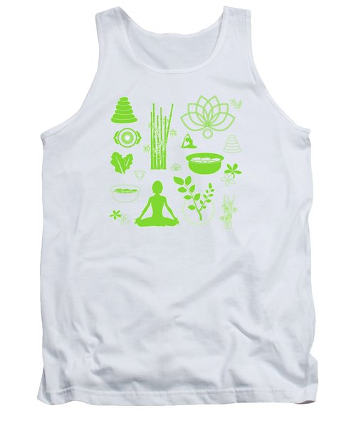 Spa Meditation Background Tank Top