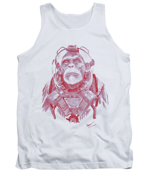 Space Chimp Tank Top by Kenny Noorlander