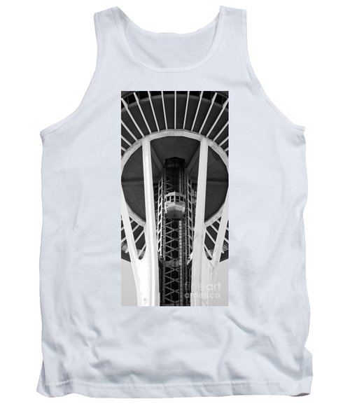 Tank Top featuring the photograph Space Needle Seattle by Chris Dutton
