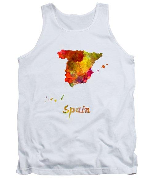 Spain In Watercolor Tank Top