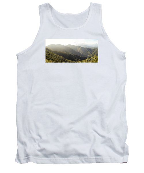 spanish mountain range, Malaga, Andalusia, Tank Top by Perry Van Munster