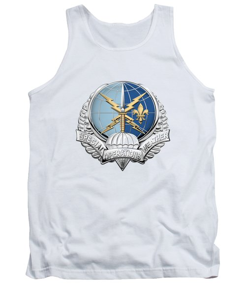 Special Operations Weather Team -  S O W T  Badge Over White Leather Tank Top by Serge Averbukh