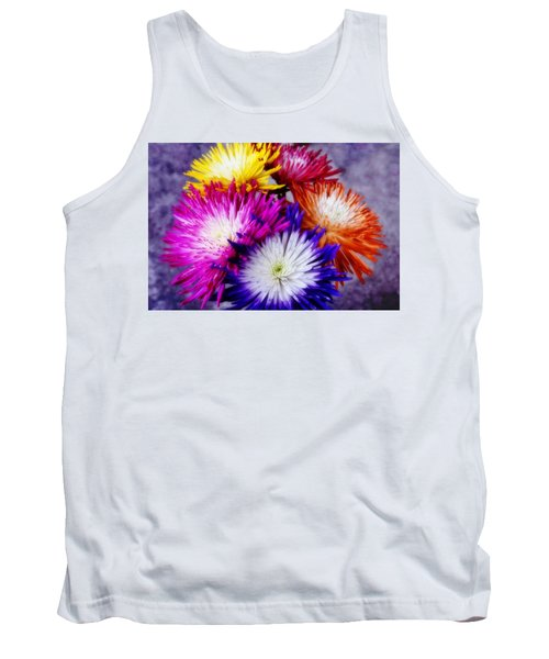 Tank Top featuring the photograph Spider Mums by Joan Bertucci