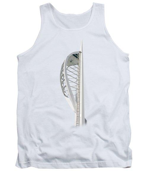 Spinnaker Tower On Transparent Background Tank Top