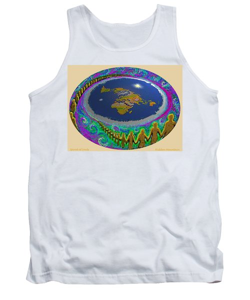 Spiral Of Souls Flat Earth Tank Top