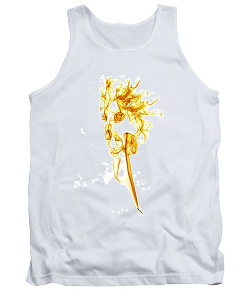 Tank Top featuring the photograph Ghostly Smoke - Orange by Nick Bywater