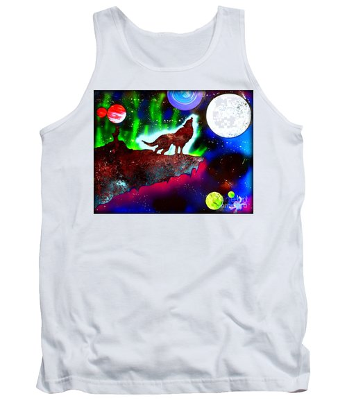 Spirit Of The Wolf Vibrant Tank Top by Justin Moore
