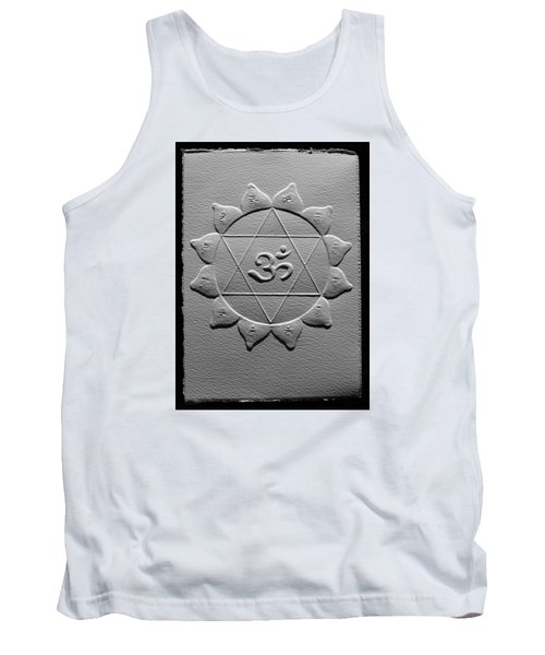 Tank Top featuring the relief Spiritual Om Yantra by Suhas Tavkar