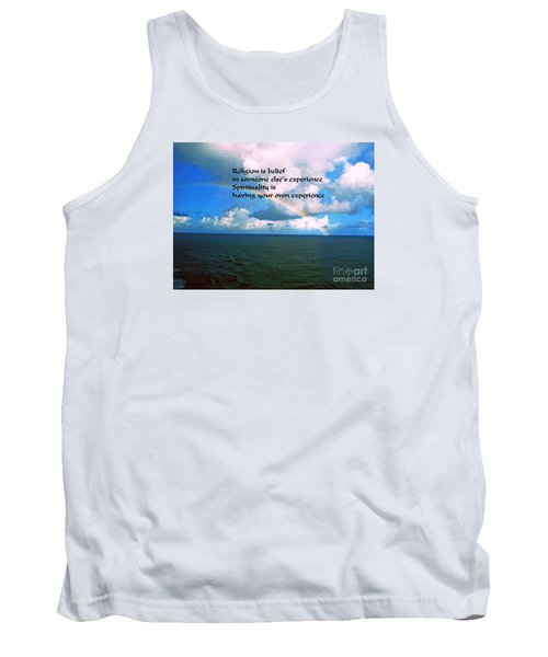 Tank Top featuring the photograph Spirituality by Gary Wonning