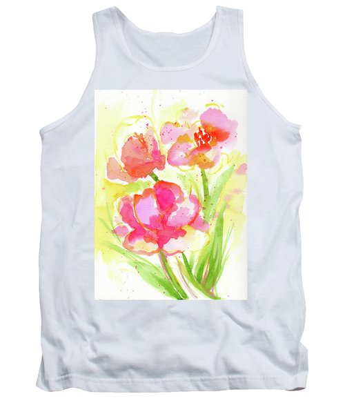 Splash Of Pinks  Tank Top