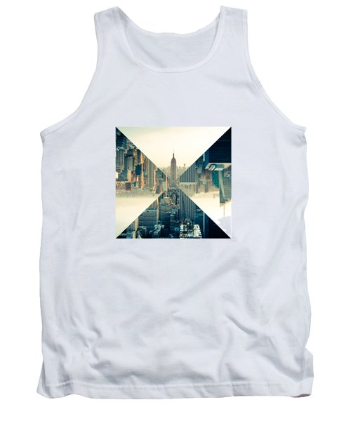 Split Skyline Ny Tank Top by Jamie Kingswood