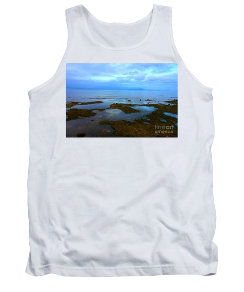 Tank Top featuring the photograph Spooky Morning Tide Receded From Beach by Christopher Shellhammer