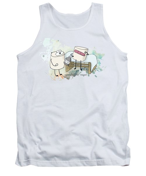 Tank Top featuring the digital art Spoonful Of Sugar Words Illustrated  by Heather Applegate