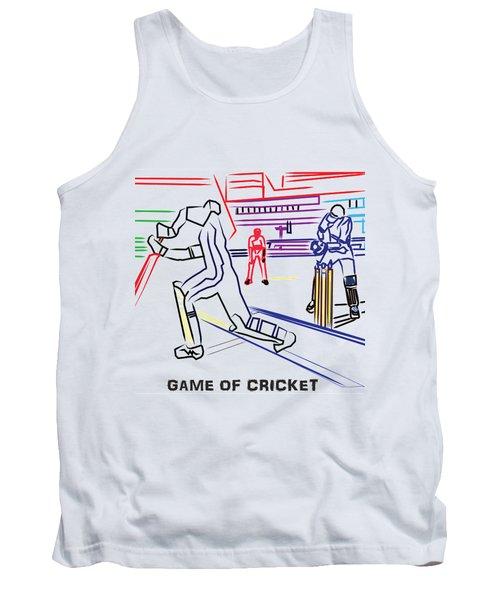 Sports Fan Cricket Played India England Pakistan Srilanka Southafrica Tank Top by Navin Joshi