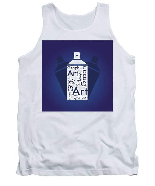 Graph Art Spray Can Tank Top by Sheila Mcdonald