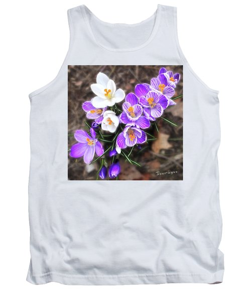 Tank Top featuring the photograph Spring Beauties by Terri Harper