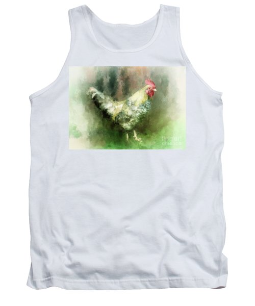Tank Top featuring the digital art Spring Chicken by Lois Bryan