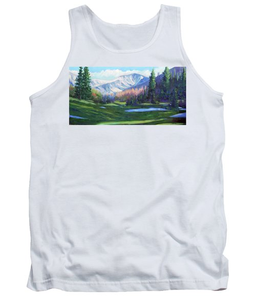 Tank Top featuring the painting Spring Colors In The Rockies by Billie Colson