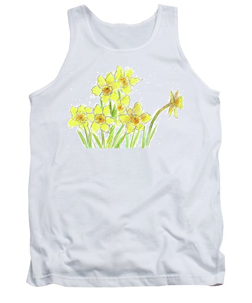 Tank Top featuring the painting Spring Daffodils by Cathie Richardson