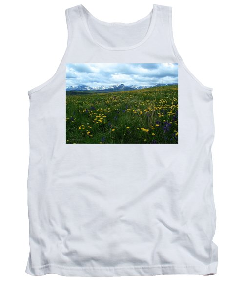 Spring Flowers On The Front Tank Top