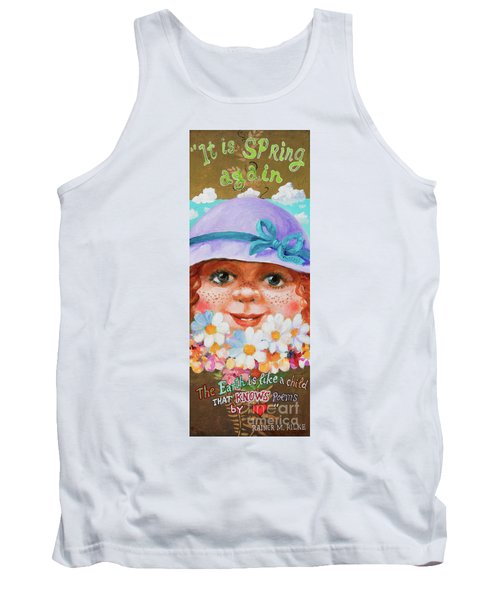 Tank Top featuring the painting Spring by Igor Postash