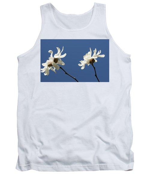 Spring Magnolias Tank Top by Haleh Mahbod