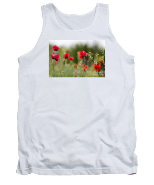 Spring Poppies  Tank Top