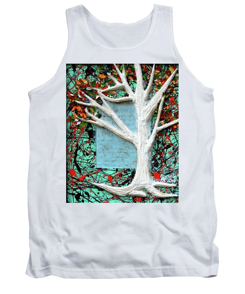 Tank Top featuring the painting Spring Serenade With Tree by Genevieve Esson