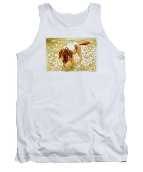 Tank Top featuring the photograph Springer Wc by Constantine Gregory