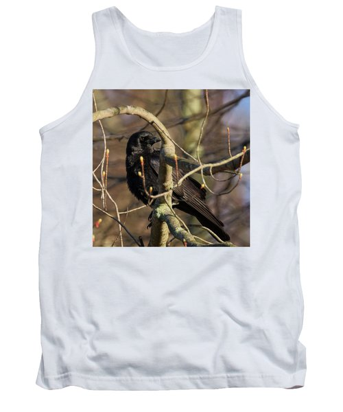 Tank Top featuring the photograph Springtime Crow Square by Bill Wakeley