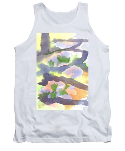 Springtime Wildflower Camouflage  Tank Top by Kip DeVore