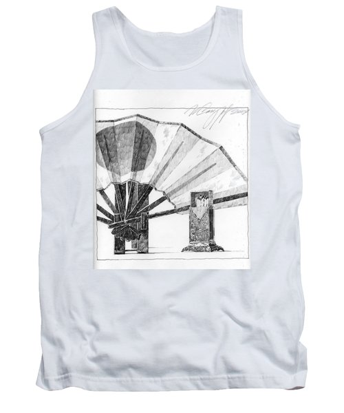 Spirit Of Japan. Fan And Matchbox Tank Top