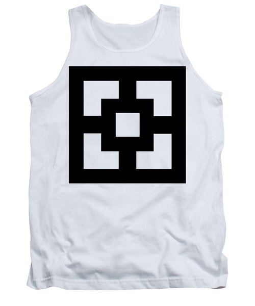 Tank Top featuring the digital art Squares - Chuck Staley by Chuck Staley
