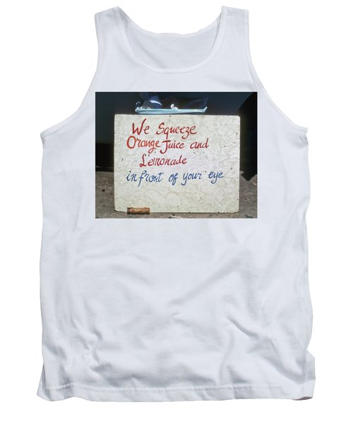 Squeezed Juice Sign Tank Top