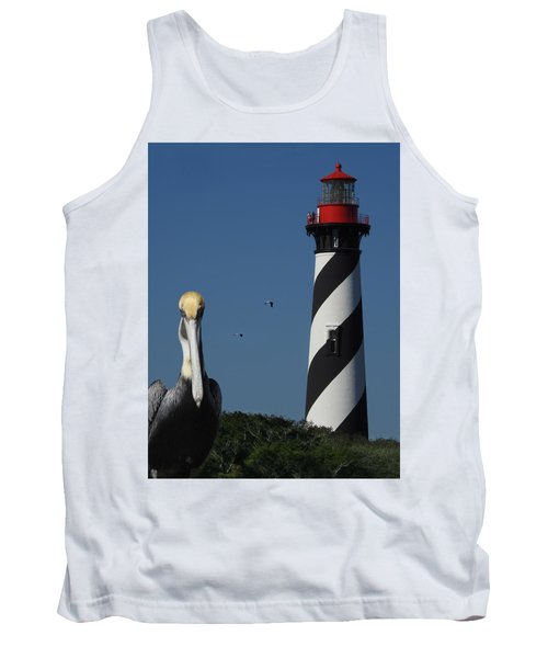St. Augustine Lighthouse Tank Top by Rod Seel