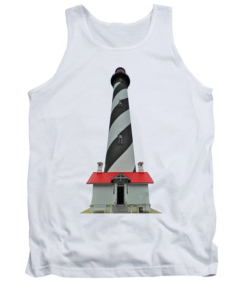 St Augustine Lighthouse Transparent For T Shirts Tank Top by D Hackett