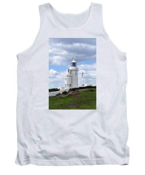 Tank Top featuring the photograph St. Catherine's Lighthouse On The Isle Of Wight by Carla Parris