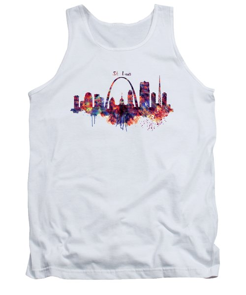 St Louis Skyline Tank Top by Marian Voicu