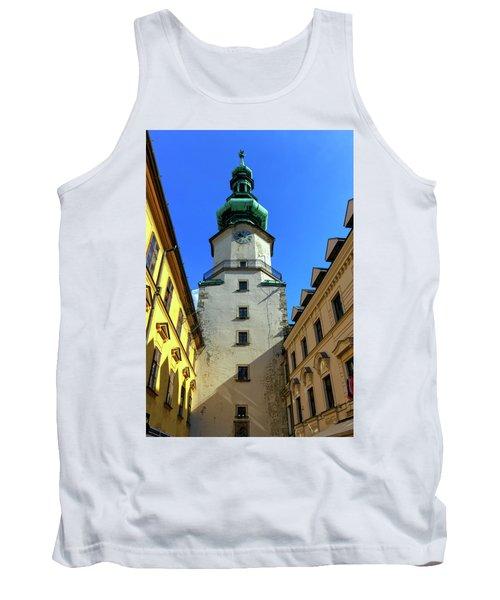 St Michael's Tower In The Old City, Bratislava, Slovakia, Europe Tank Top by Elenarts - Elena Duvernay photo