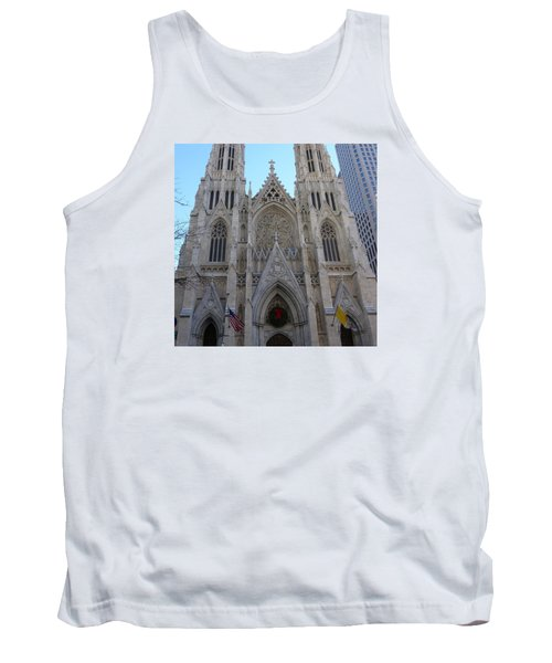 Tank Top featuring the photograph St Patrick's Cathedral, Nyc by Melinda Saminski