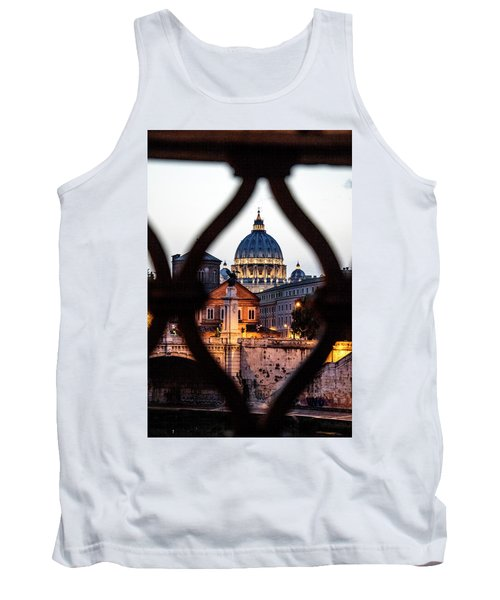 Tank Top featuring the photograph St. Peter's Basilica From The St. Angelo Bridge by Jean Haynes