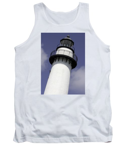 St Simons Island Lighthouse Tank Top by Elizabeth Eldridge