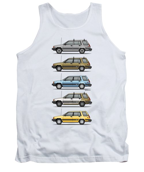 Stack Of Mark's Toyota Tercel Al25 Wagons Tank Top