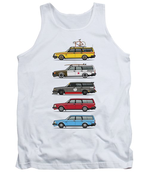 Stack Of Volvo 200 Series 245 Wagons Tank Top