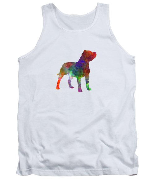 Staffordshire Bull Terrier In Watercolor Tank Top by Pablo Romero