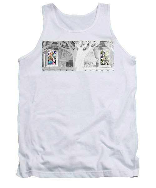 Stained Glass Windows Disney Tank Top by Roger Lighterness