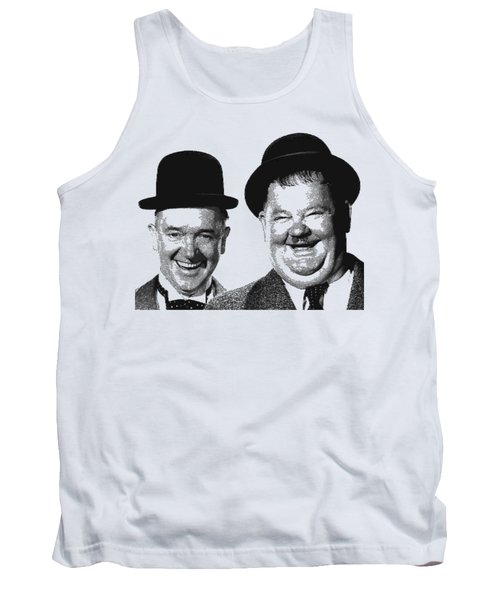 Stan And Ollie - Parallel Hatching Tank Top