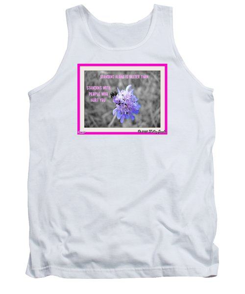Tank Top featuring the digital art Standing Alone by Holley Jacobs