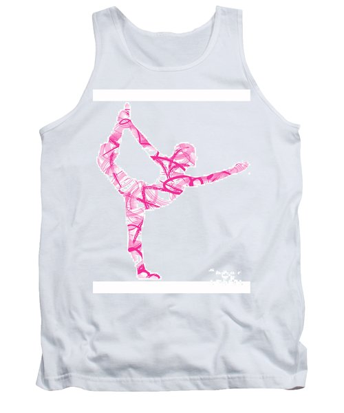 Yoga Pose Asana Standing Bow Pose Tank Top
