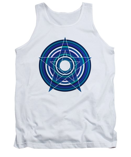 Star Marine Over Concentric Circles Tank Top